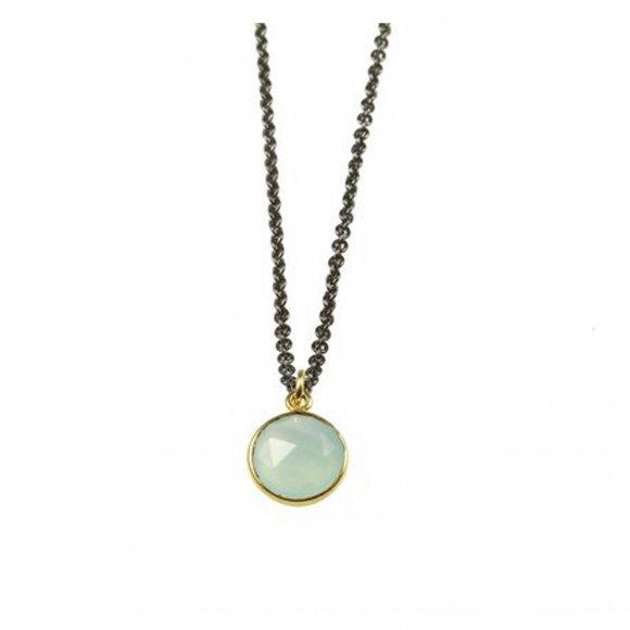 Multi brand - Lang kæde med krystal sten fra Pure by Nat