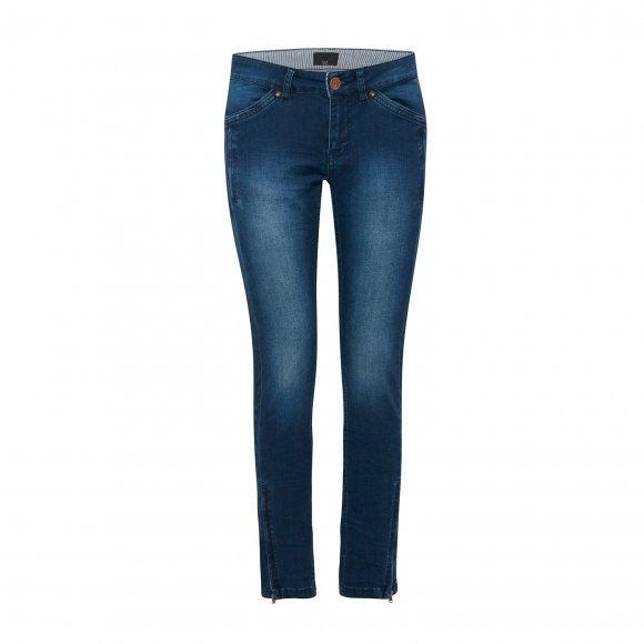 Pulz Jeans - Erica midwaist ankel jeans fra Pulz