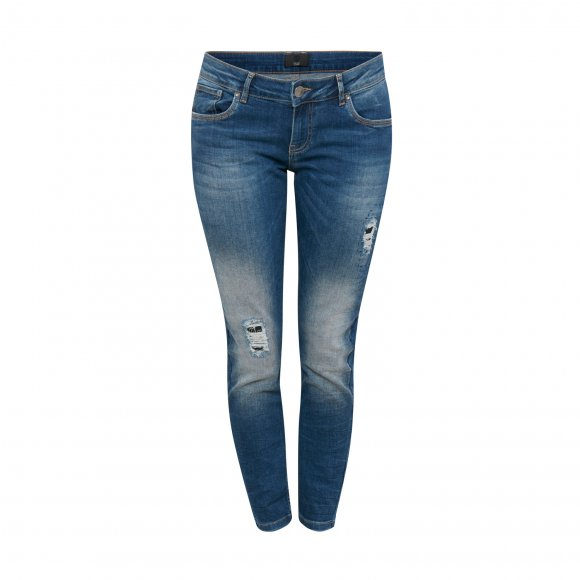 Pulz Jeans - Ina midwaist ankle jeans fra Pulz
