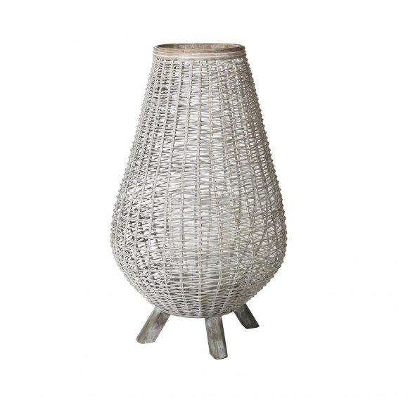 Broste Copenhagen - Lanterne weave i bambus og glas fra Broste Copenhagen