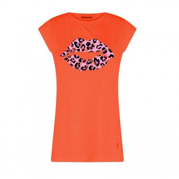 Coster Copenhagen - T-shirt w. leopard lips fra Coster Copenhagen