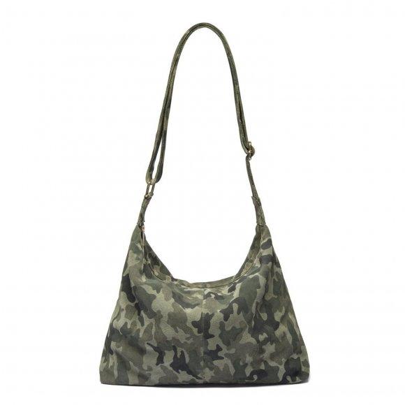 depeche - Shopper taske i camouflage print fra Depeche
