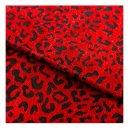 depeche - Crossover taske i rødt leopard print fra Depeche