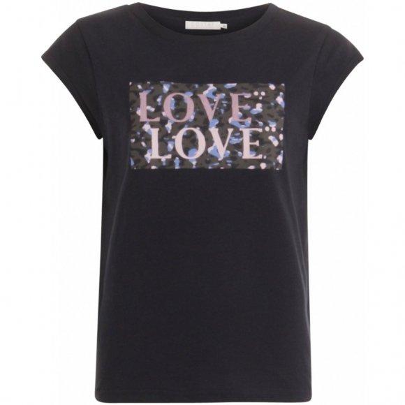 Coster Copenhagen - T-shirt w.love print fra Coster Copenhagen