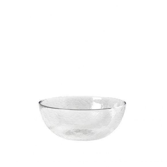 """Broste Copenhagen - Bowl """"hammered"""" i glas fra Broste Copenhagen"""