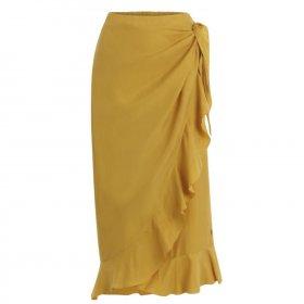 Coster Copenhagen - Skirt w. ruffles and tieband details fra Coster Copenhagen