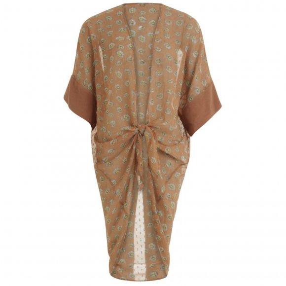 Coster Copenhagen - Kimono in daisy print w. ties at waist fra Coster Copenhagen