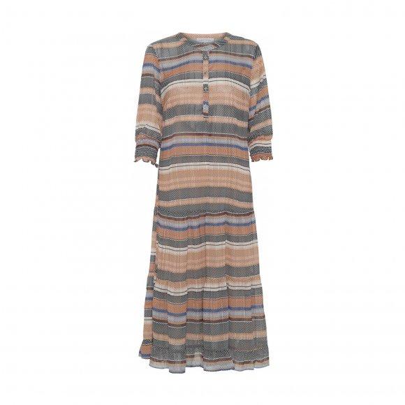 Continue - Flora blue stripe kjole fra Continue