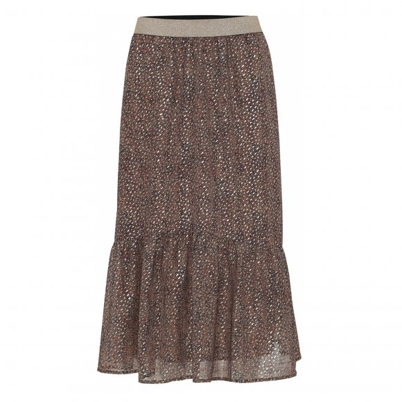 Continue - Honey glitter midi skirt fra Continue
