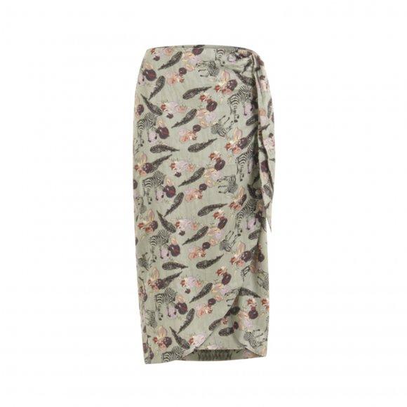 Coster Copenhagen - Skirt w. zebra print fra Coster Copenhagen