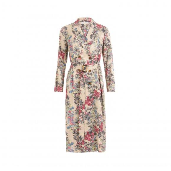 Coster Copenhagen - Long sleeved dress in winter berry print fra Coster Copenhagen