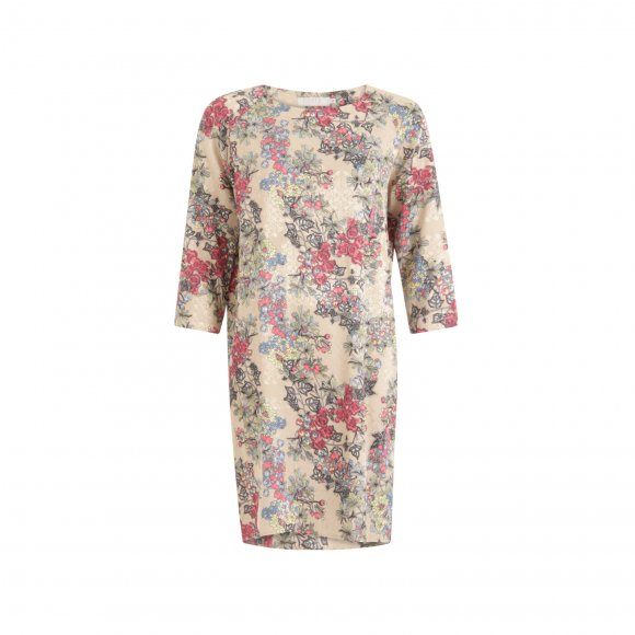 Coster Copenhagen - Dress in winter berry print w. raglan sleeve fra Coster Copenhagen