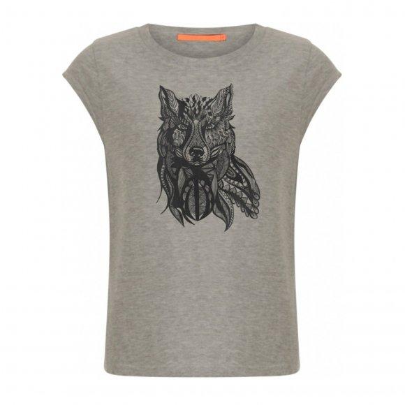 Coster Copenhagen - T-shirt w. wolf print fra Coster Copenhagen