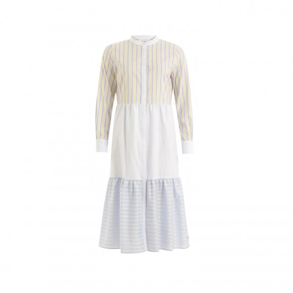 Coster Copenhagen - Long wide dress w. china collar fra Coster Copenhagen