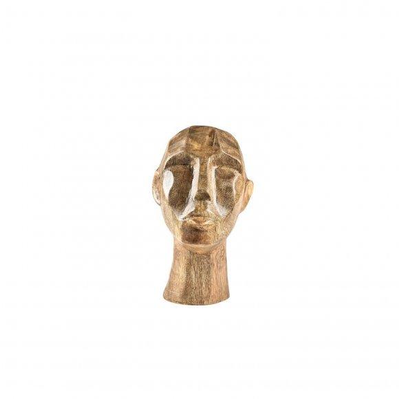 Villa Collection - Figur hoved i mangotræ fra Villa Collection
