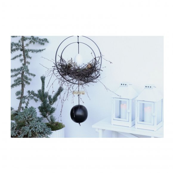 Nordic by hand - Kernen Iron ball black dia. 8 cm fra Nordic By Hand