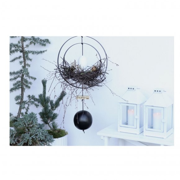 Nordic by hand - Kernen Iron Ball black dia.18 cm fra Nordic By Hand