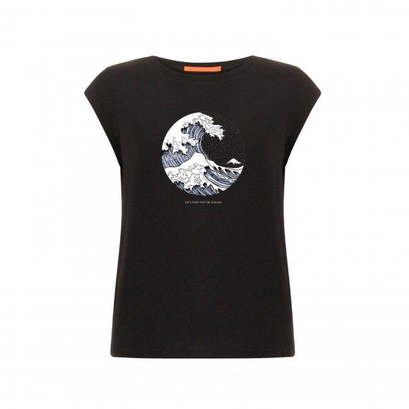 Coster Copenhagen - T-shirt w. wave print fra Coster Copenhagen