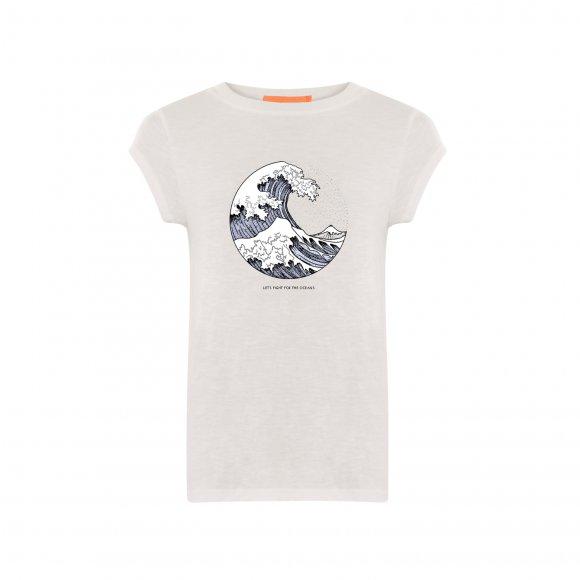 Coster Copenhagen - T-shirt w. earth print fra Coster Copenhagen