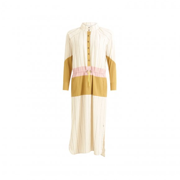 Coster Copenhagen - Long dress w. mixed colors and drawstrings fra Coster Copenhagen