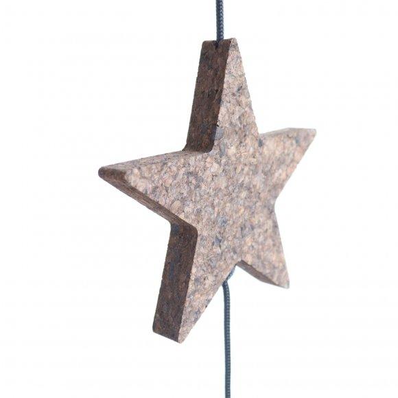Nordic by hand - Kork stjerne stor 18x18 cm fra Nordic By Hand