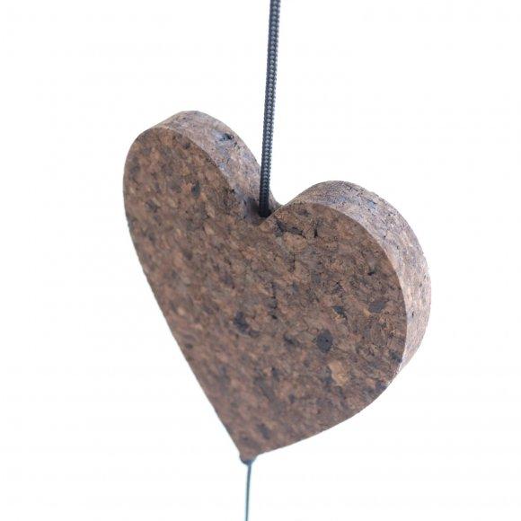 Nordic by hand - Kork hjerte mellem 18 cm fra Nordic By Hand