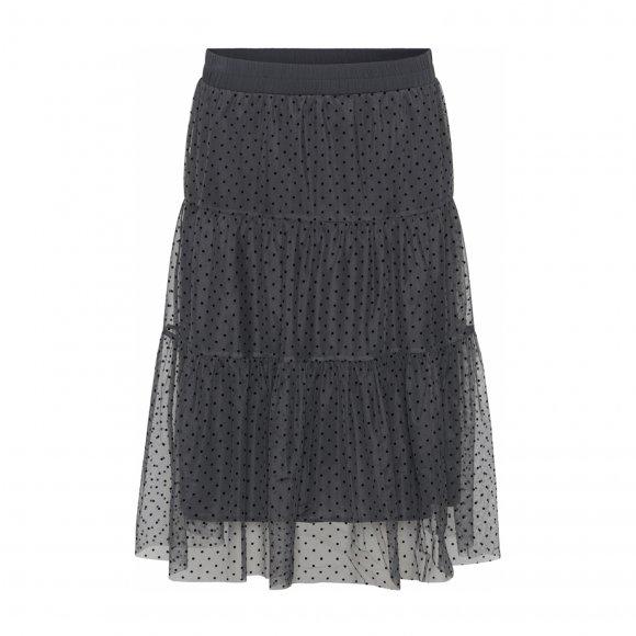Continue - Clara mesh dot nederdel fra Continue