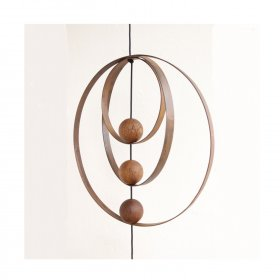 Nordic by hand - Snoren jern ring i rust 40 cm fra Nordic By Hand