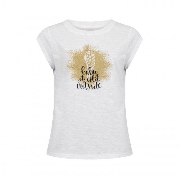 Coster Copenhagen - T-shirt w. glitter wing print fra Coster Copenhagen