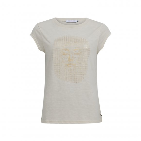 Coster Copenhagen - T-shirt med gold face print fra Coster Copenhagen