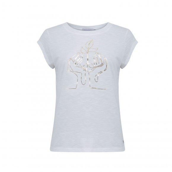 Coster Copenhagen - T-shirt med hånd print fra Coster Copenhagen