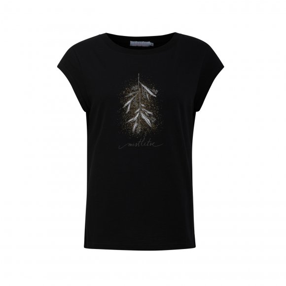 Coster Copenhagen - T-shirt w. mistletoe print fra Coster Copenhagen